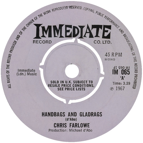 Handbags And Gladrags Everyone Makes A Mistake By Chris Farlowe Single Blue Eyed Soul Reviews Ratings Credits Song List Rate Your Music