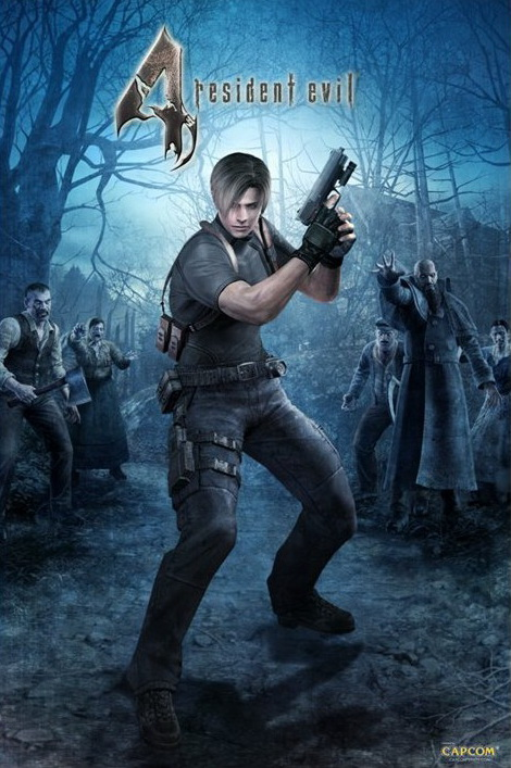 Resident Evil 4 (video game, action horror, third-person shooter