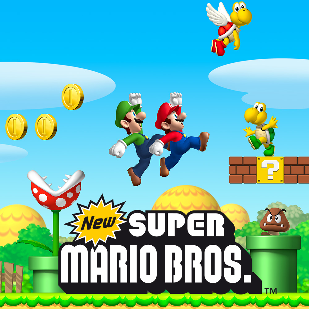 New Super Mario Bros. (video game, 2D platformer, fantasy) reviews &  ratings - Glitchwave video games database